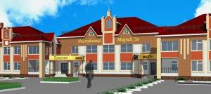 Фрагмент фасада школы в д.Шоруньжа РМЭ